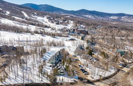 Mountainside drone shot