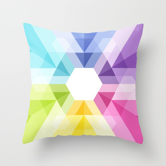 Colorful Geometric Pillow - Maps of Imaginary Places