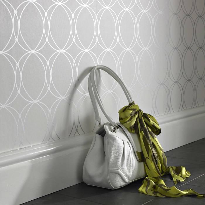 Darcy Pearl Circular Geometric Wallpaper - Design Your Wall