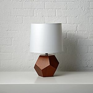 Geometric Wood Lamp - Land of Nod