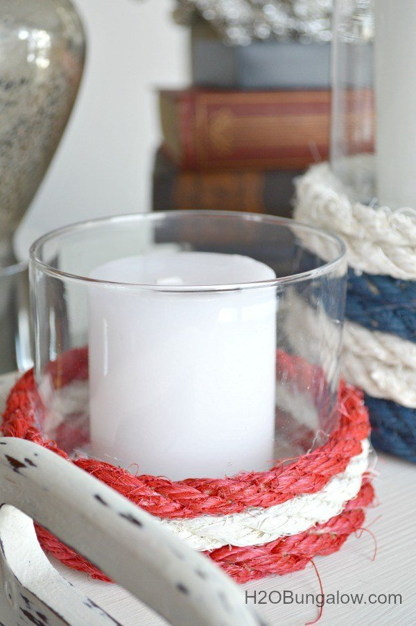 H20 Bungalow - Nautical Rope Candle Holders