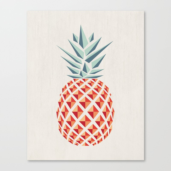 Pineapple Canvas Print - Withnopants on Society 6