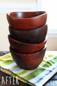 Refinished Wood Bowls - Cut Out and Keep