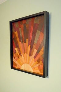 Sunrise Wood Wall Art - Stains and Grains