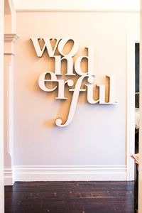 """""""Wonderful"""" Typography Sign - Apartment Therapy"""