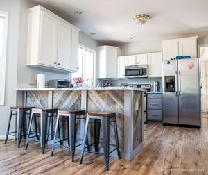 Wooden Plank - Kitchen Peninsula - Infarrantly Creative