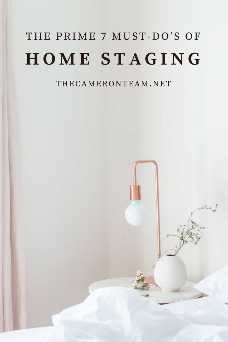The Prime 7 Must-Do's of Home Staging