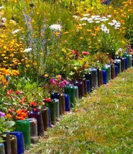 glass-bottles-garden-border