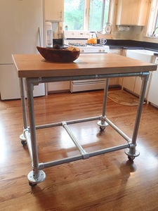 simplified-building-pipe-and-butcher-block-rolling-kitchen-island