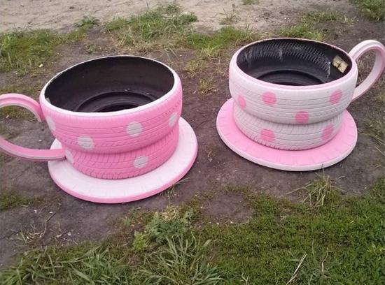 old-tires-to-teacup-planters-wonderful-diy