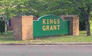 Kings Grant Entrance Sign