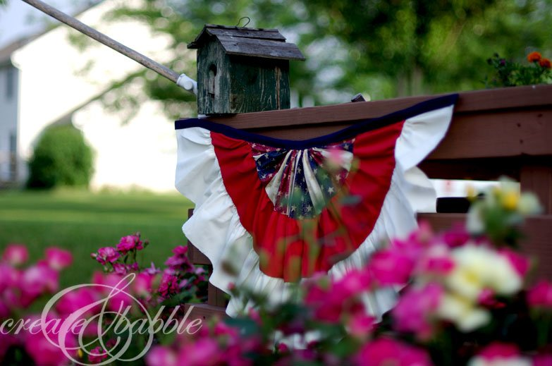 Create and Babble - Patriotic Bunting