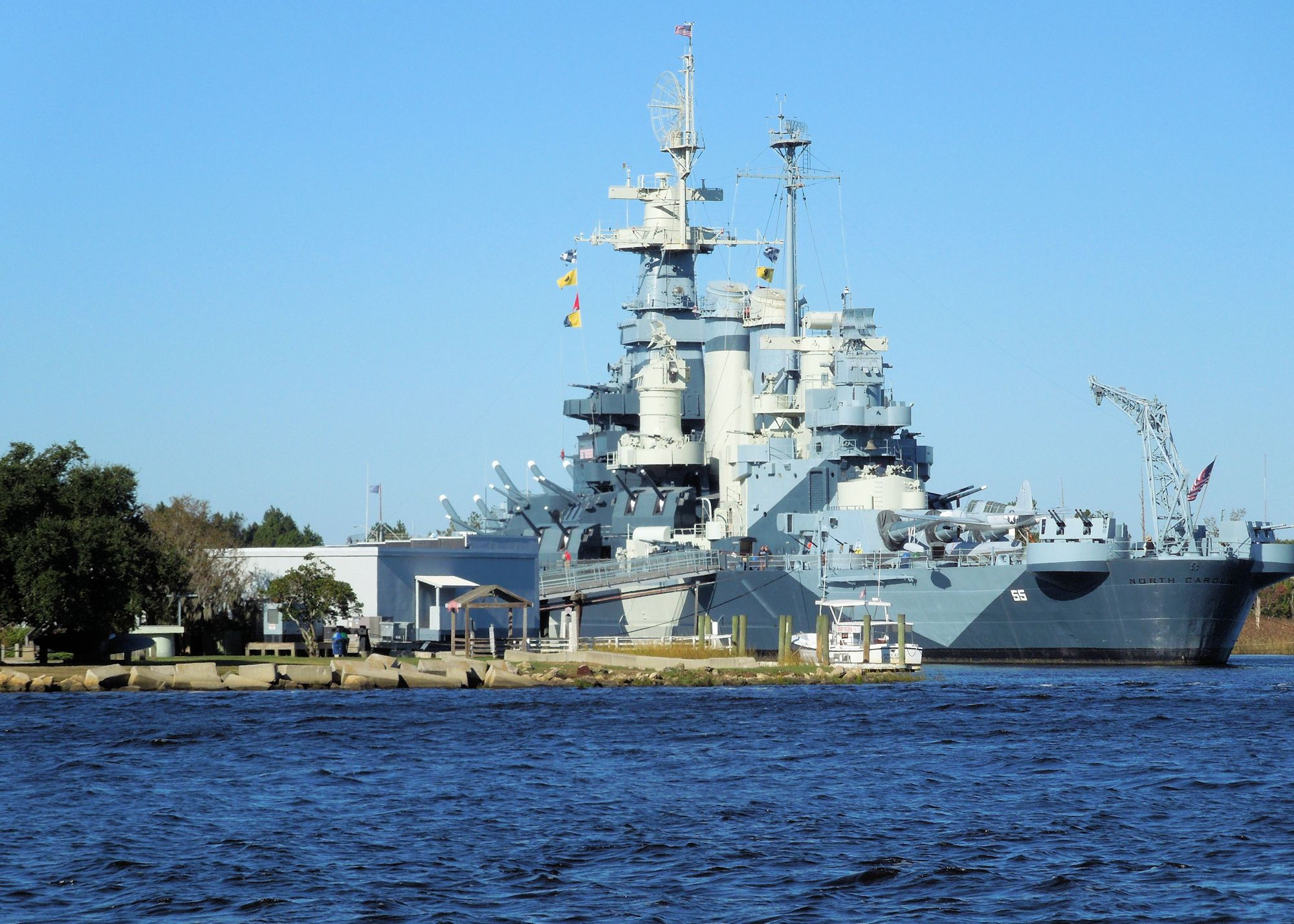 Downtown Wilmington - Battleship North Carolina