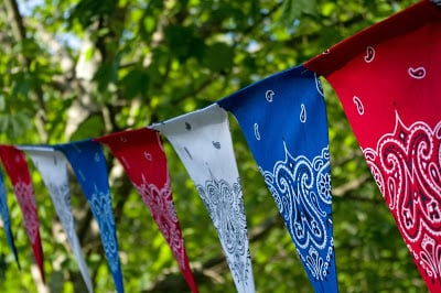 Hatter and Hare Events - 4th of July Pennant Banner