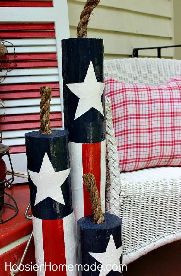 Hoosier Homemade - DIY Wooden Firecrackers