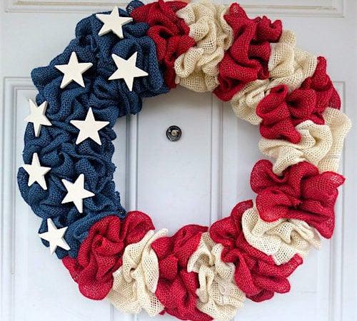 How to Make a Burlap Wreath - Patriotic Burlap Wreath