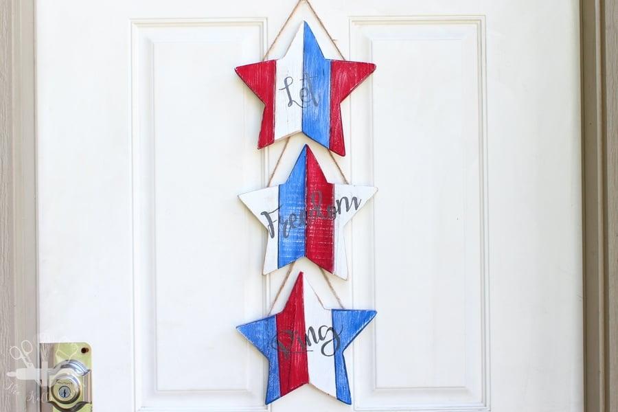 The Kolb Corner - Stars and Stripes Door Hanger