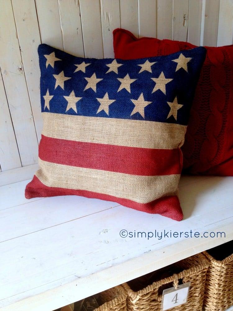 Simply Kierste - Flag Pillow