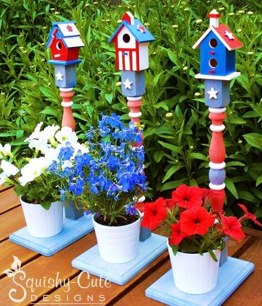 Squishy Cute Designs - Patriotic Birdhouses