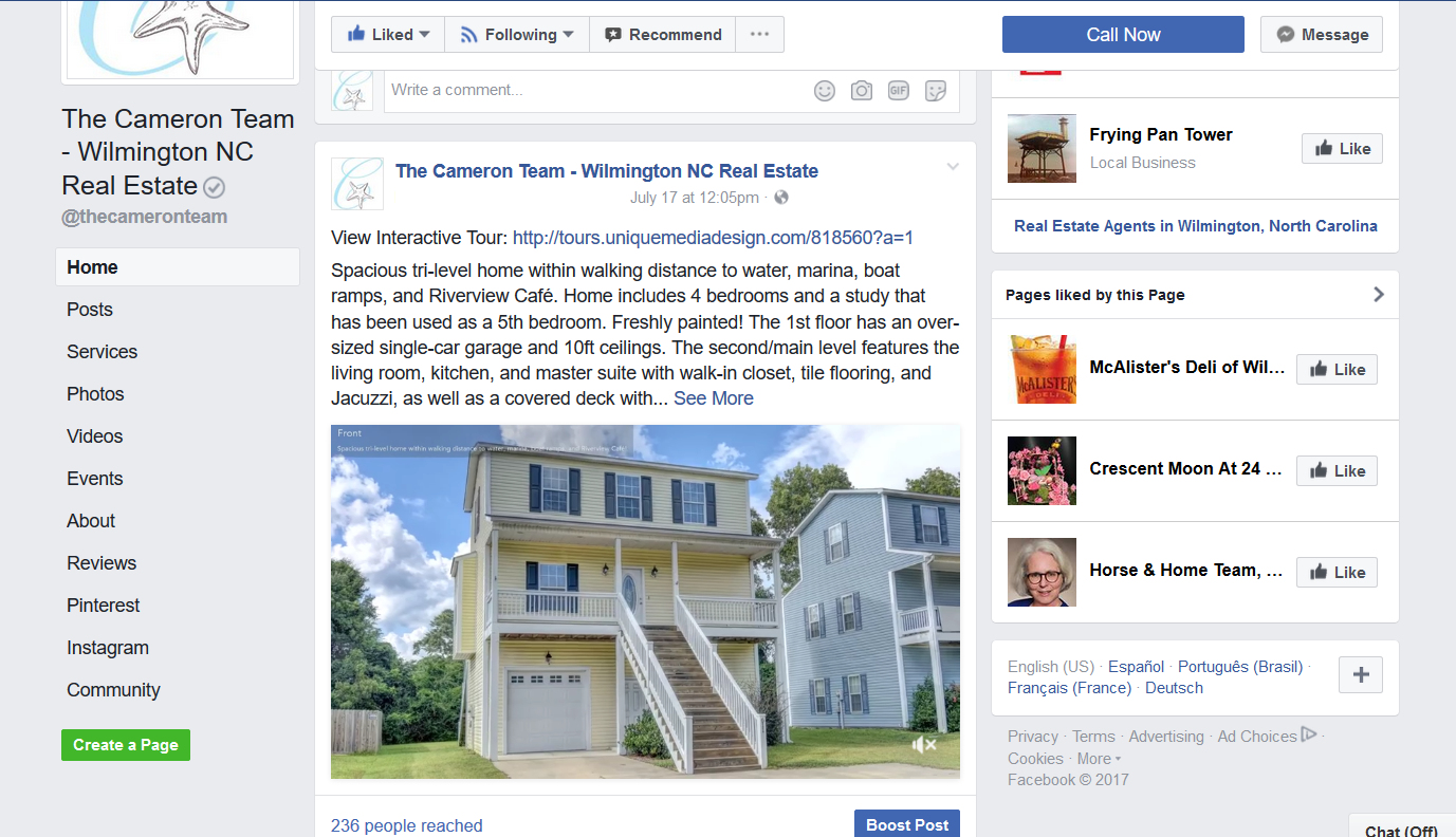 Facebook Real Estate Video Post