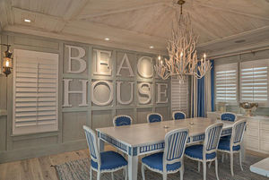 Beach House Typography - Visbeen Architects and Benchmark Wood Studio