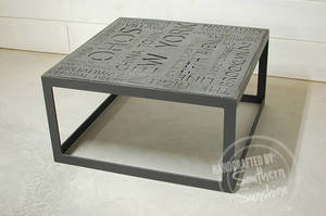 New York City Art Industrial Typography Coffee Table - Southern Sun Shop