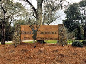 Deer Crossing - Entrance Sign