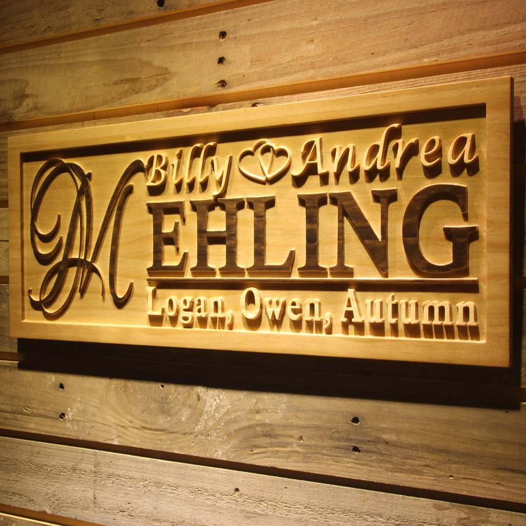 AdvPro Wood Custom Custom Family Sign