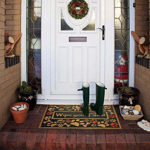 Amagabeli Outdoor Entryway Wipe Your Paws Welcome Mat