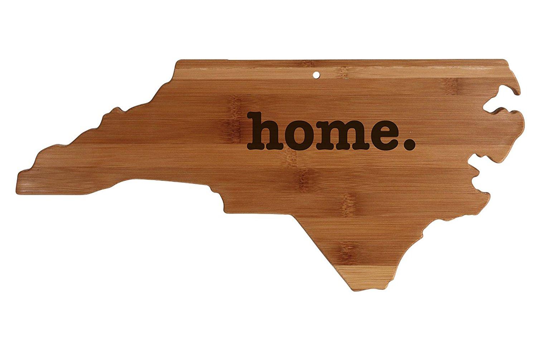 North Carolina State Shaped Bamboo Wood Cutting Board