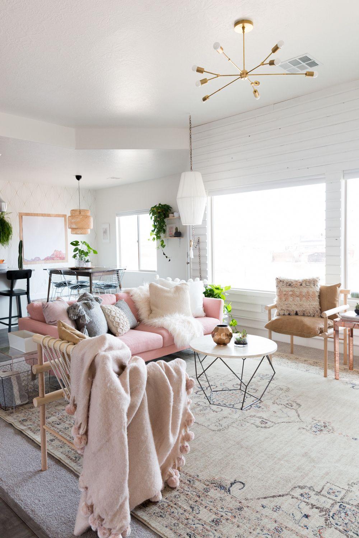 Blush Living Room - Vintage Revival