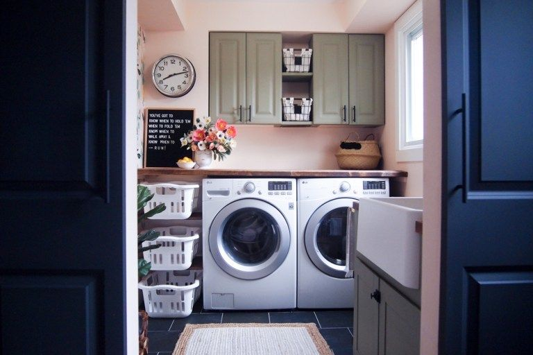 Blush Pink Laundry Room - The Learner Observer
