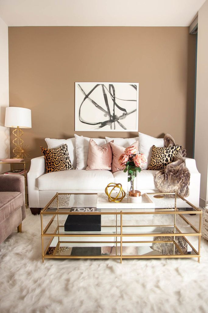 Blush and Brown Living Room - The Darling Details - Jessi Afshin