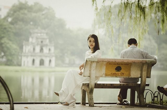 Sad Girl Sitd on Bench - Bad Memories