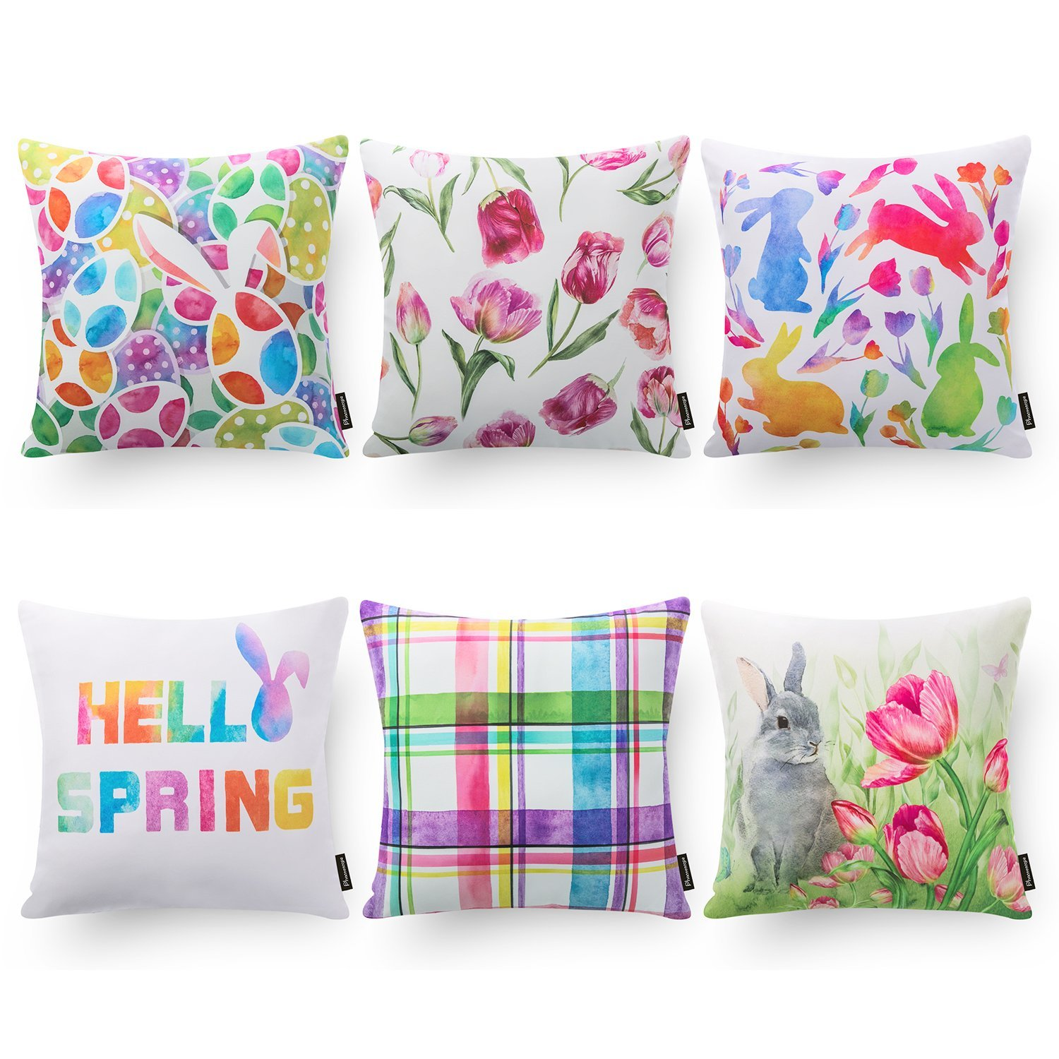 Easter Festival - 18in x 18in - Polyester Cotton Blend Pillow Covers by Phantoscope