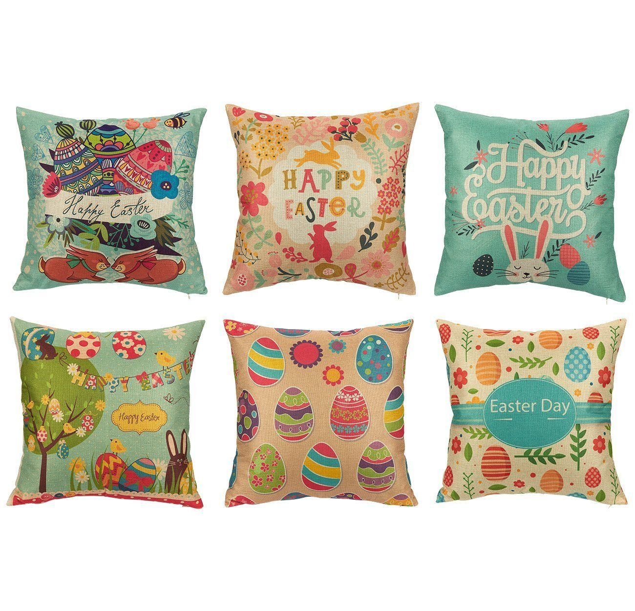 Easter Print - 18in x 18in - Pillow Covers by JuvaleEaster Print - 18in x 18in - Pillow Covers by Juvale