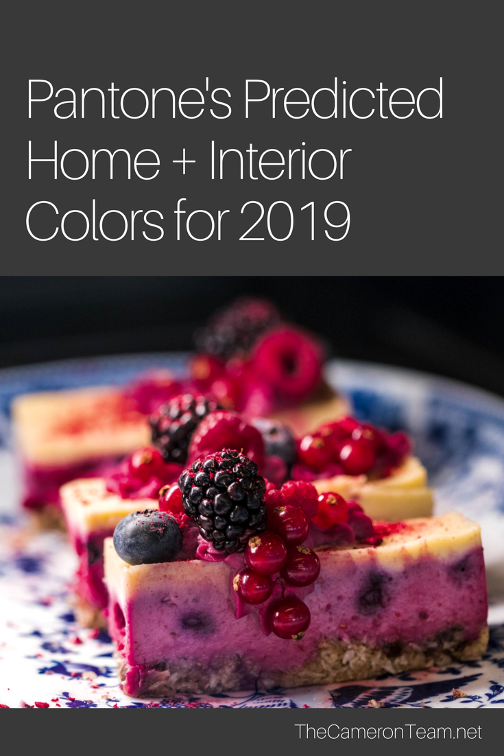 Pantone's Predicted Home + Interior Colors for 2019