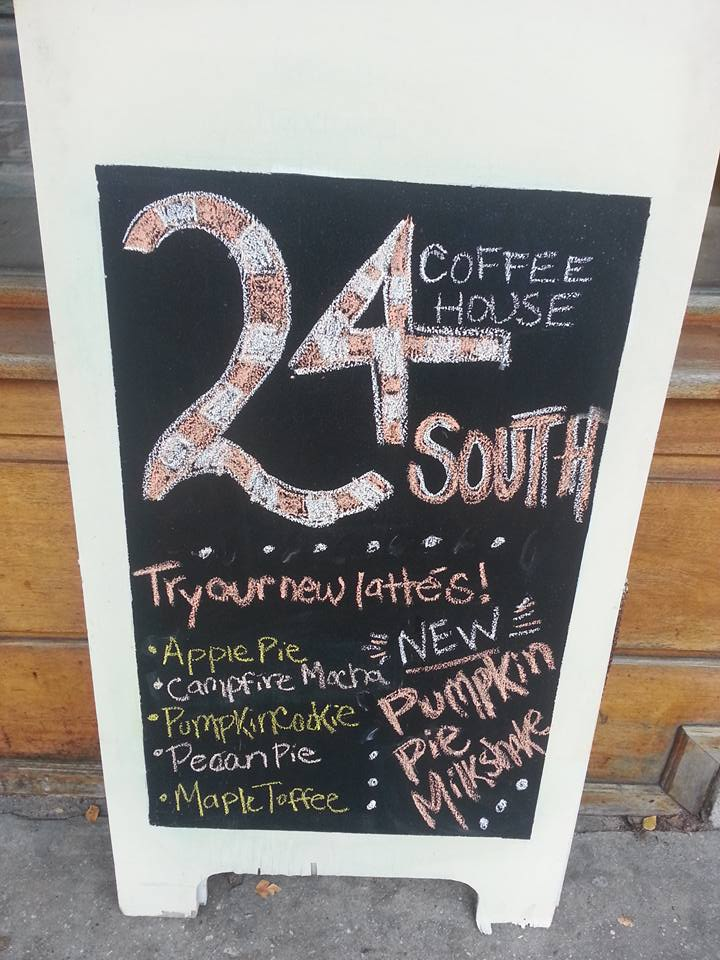 24 South Coffee House Latte Examples
