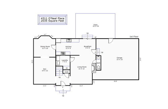 8691 – 4311 O'Neal Place-1st Floor