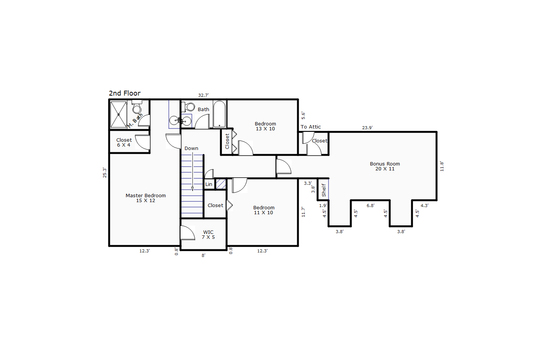 8691 – 4311 O'Neal Place-2nd Floor