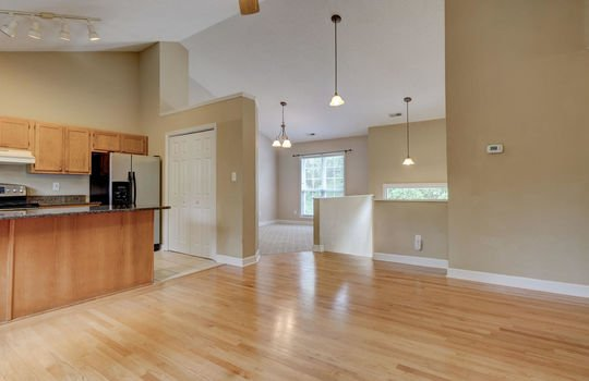 Living Room to Kitchen and Dining Room