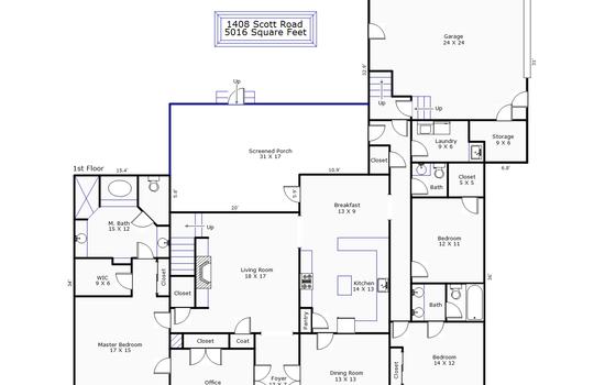 9243 – 1408 Scott Road-1st Floor