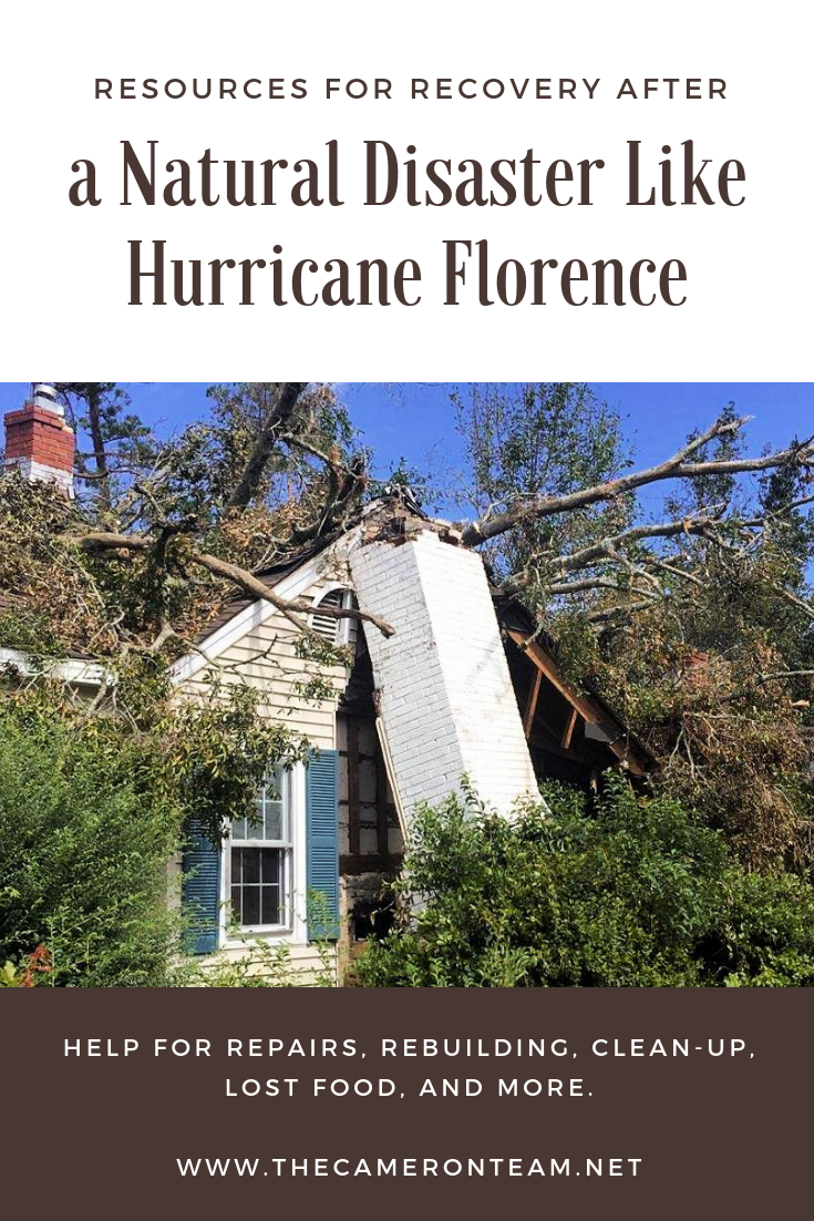 Resources for Recovery After a Natural Disaster Like Hurricane Florence