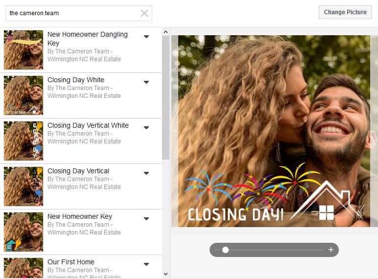Closing Day Facebook Frame