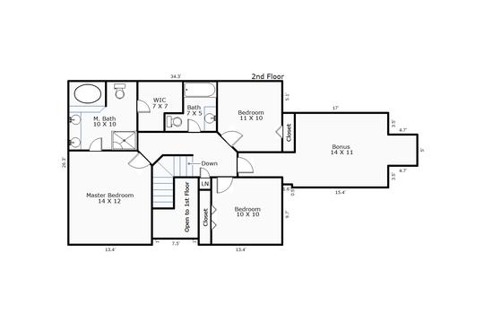 9461 – 103 Crooked Creek Road-2nd Floor