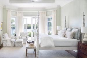 Dering Hall - Jill Shevlin Design - White Four-Poster Bed