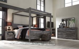 Rose Brothers Furniture - Baystorm Gray Four-Poster Canopy Bed