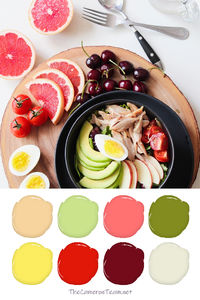 Fruit and Chicken Paint Color Palette - The Cameron Team