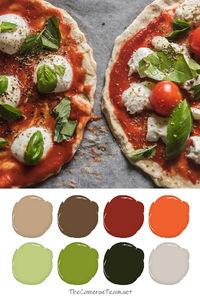 Pizza Paint Color Palette - The Cameron Team