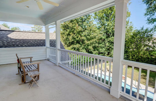 Second Floor Covered Porch